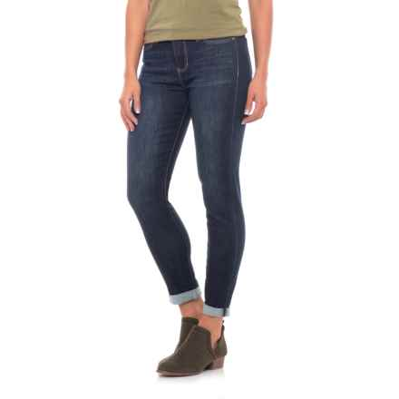 Liverpool Jeans Company Rolled Crop Jeans (For Women) in Vintage Super Dark - Closeouts