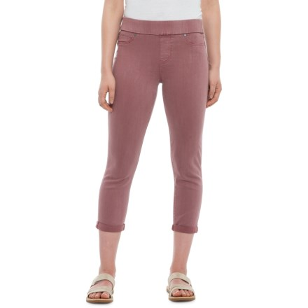 e3158a337f Liverpool Jeans Company Sienna Rolled Pull-On Capris (For Women) in Roan  Rouge