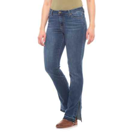 Liverpool Jeans Company Straight Jeans (For Women) in Montauk Mid Blue - Closeouts