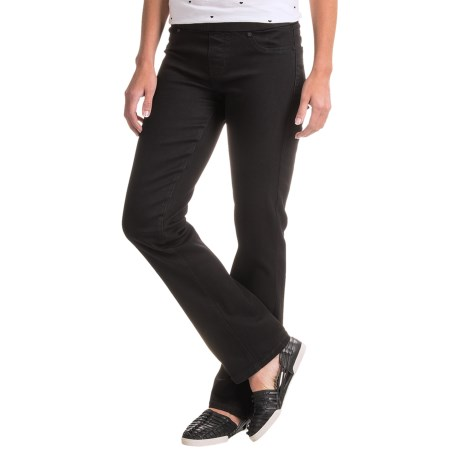 Liverpool Jeans Company Straight Leg Jeans - Elastic Waist (For Women)