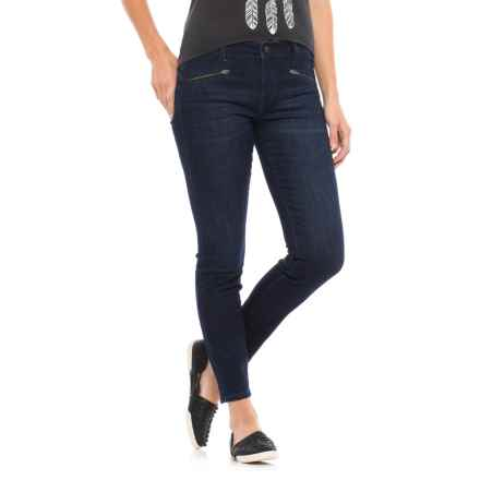 Liverpool Jeans Company Zip Ankle Jeans - Mid Rise (For Women) in Vintage Super Dark - Closeouts