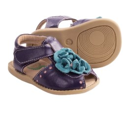 Livie & Luca Bloom Sandals - Leather (For Toddler and Kid Girls) in Purple