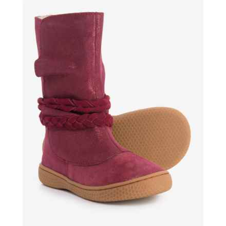 Livie & Luca Calliope Boots - Suede (For Girls) in Mulberry - Closeouts