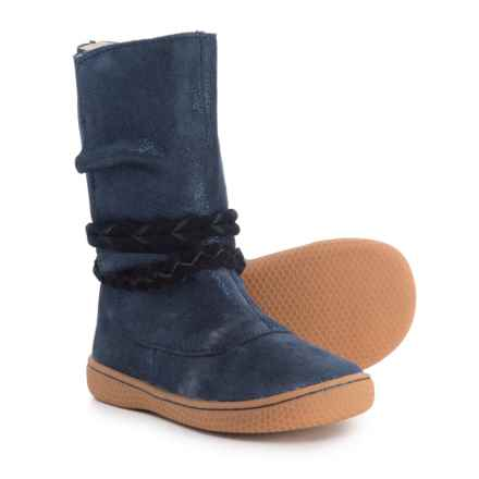 Livie & Luca Calliope Boots - Suede (For Girls) in Navy - Closeouts