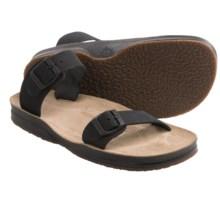 Lizard Posh Sandals - Suede (For Women) in Black - Closeouts