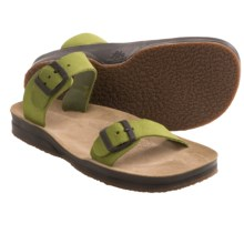 Lizard Posh Sandals - Suede (For Women) in Green - Closeouts
