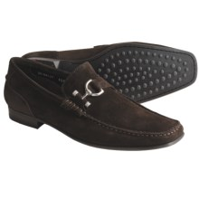 Lloyd Shoes Euro Suede Shoes - Bit Slip-Ons (For Men) in Dark Brown - Closeouts