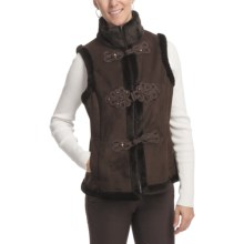 LNR Faux-Suede Vest - Furry Pile Lining (For Women) in Brown - Closeouts