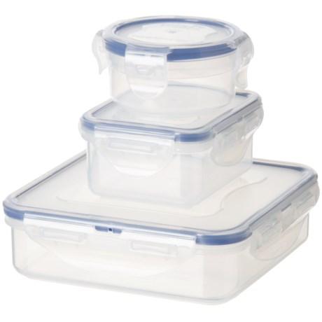 Lock & Lock Lunch Corner Container Set - 6-Piece in Blue