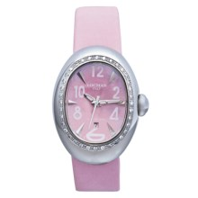 Locman Nuovo Diamond Bezel Watch - Mother-of-Pearl Dial (For Women) in Pink Satin - Closeouts