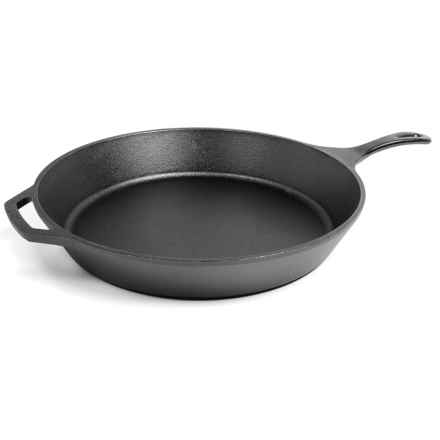 "Lodge Cast Iron Skillet - 15"", Seasoned in See Photo - Overstock"