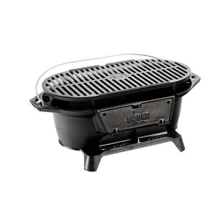 Lodge Cast Iron Sportsman's Grill in See Photo - Closeouts