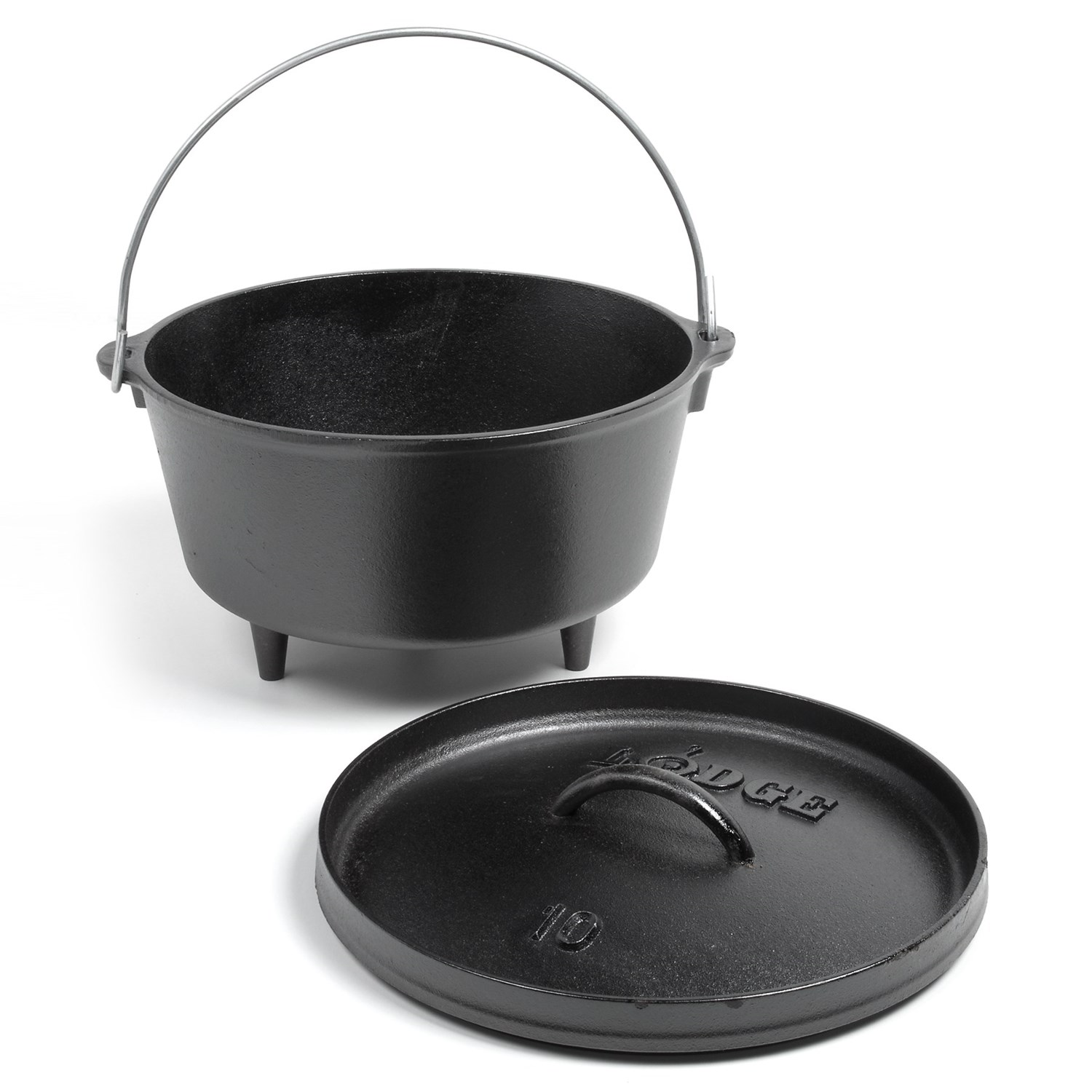 lodge deep camp dutch oven cast iron 5 qt save 43. Black Bedroom Furniture Sets. Home Design Ideas