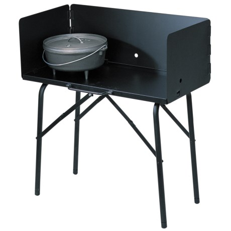 Lodge Outdoor Cooking Table in See Photo