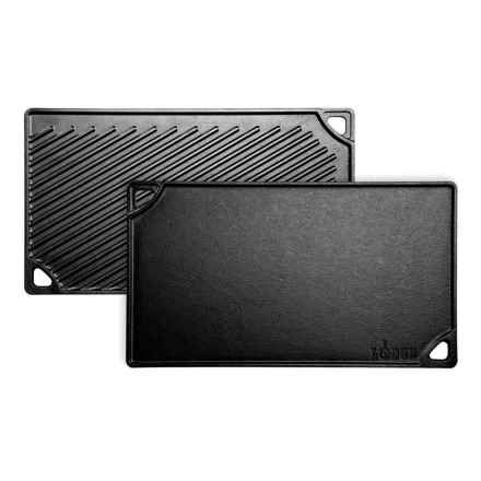 """Lodge Reversible Grill/Griddle Pan - 16.75x9.5"""" in Black - Closeouts"""