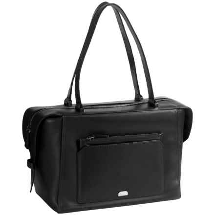 Lodis Amy Geelan Satchel Bag - Italian Leather in Black - Closeouts