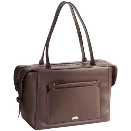 Lodis Amy Geelan Satchel Bag - Italian Leather in Olive - Closeouts