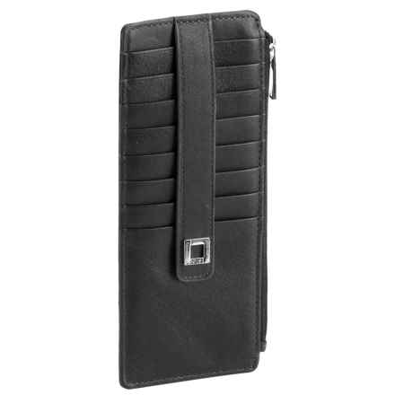 Lodis Artemis RFID Credit Card Case - Leather (For Women) in Black - Closeouts