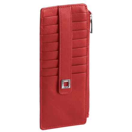 Lodis Artemis RFID Credit Card Case - Leather (For Women) in Red - Closeouts