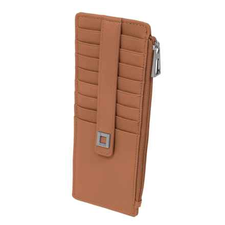 Lodis Artemis RFID Protected Credit Card Case (For Women) in Cognac - Closeouts