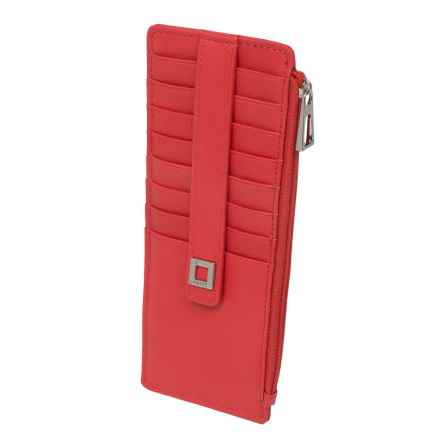 Lodis Artemis RFID Protected Credit Card Case (For Women) in Red - Closeouts