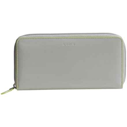 Lodis Audrey Collection Ada Zip Wallet (For Women) in Dove/Lime - Closeouts