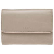 Lodis Audrey Continental Wallet (For Women) in Taupe/Blush - Closeouts