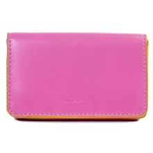 Lodis Audrey Mini Card Case - Leather (For Women) in Hibiscus/Lemonade - Closeouts