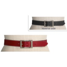 Lodis Audrey Reversible Belt - Leather (For Women) in Black/Red - Closeouts