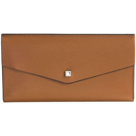 Lodis Blair Collection Amanda Continental Clutch (For Women) in Toffee/Taupe