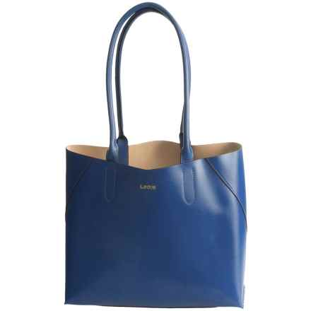 Lodis Blair Collection Cynthia Tote Bag - Leather in Denim/Taupe - Closeouts