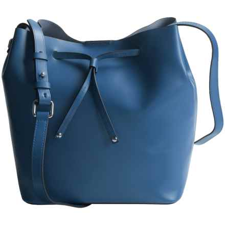 Lodis Blair Collection Gail Drawstring Bag - Medium (For Women) in Denim/Taupe - Closeouts