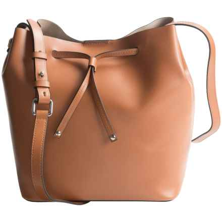 Lodis Blair Collection Gail Drawstring Bag - Medium (For Women) in Toffee/Taupe - Closeouts