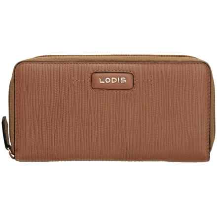 Lodis Cordoba Ada Zip Wallet (For Women) in Toffee - Closeouts
