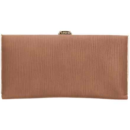 Lodis Cordoba Quinn Clutch Wallet (For Women) in Toffee - Closeouts