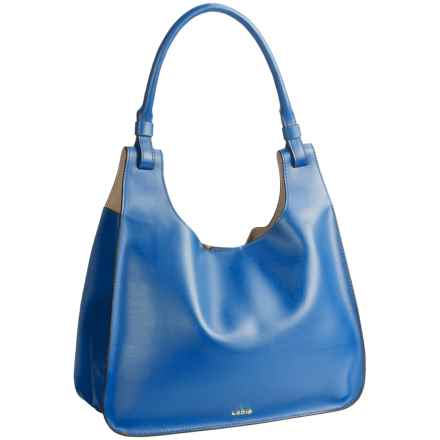 Lodis Dara Hobo Bag - Italian Leather in Denim/Taupe - Closeouts