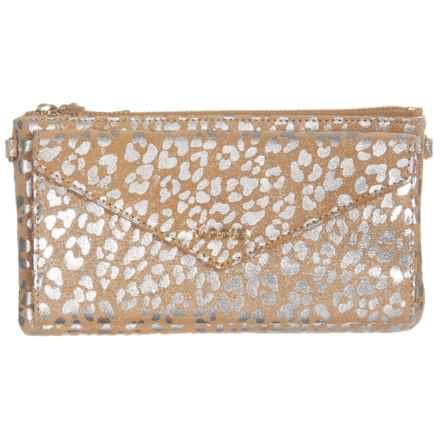 Lodis Envelope Wallet Purse - Crossbody (For Women) in Beige/Silver - Closeouts