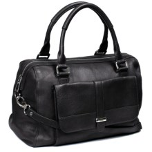 Lodis Hill Street Camille Satchel - Leather (For Women) in Raven - Closeouts