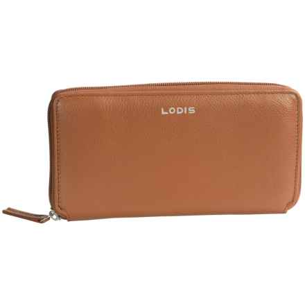 Lodis Ivy Zip Wallet in Toffee - Closeouts