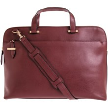 Lodis Jamie Medium Leather Briefcase (For Women) in Burgundy - Closeouts