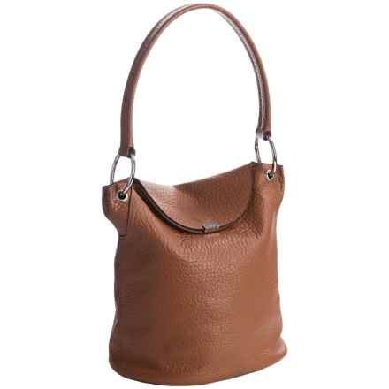 Lodis Lainy Convertible Bucket Bag - Italian Leather in Toffee - Closeouts