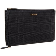 Lodis Lani Double-Zip Leather Pouch (For Women) in Black - Closeouts
