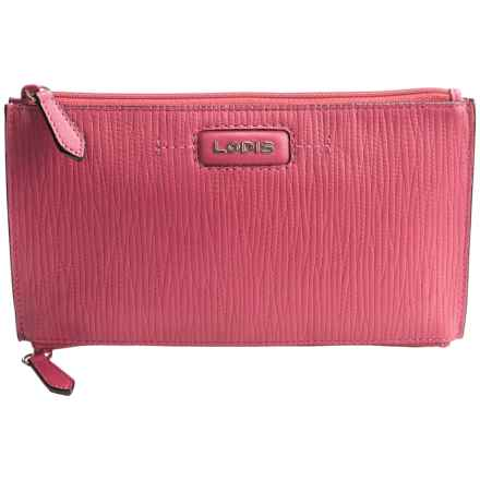 Lodis Lani Double-Zip Leather Pouch (For Women) in Fuchsia - Closeouts