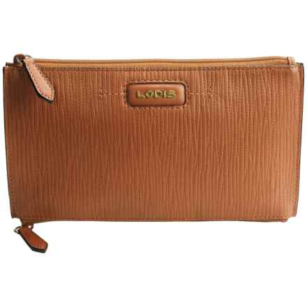 Lodis Lani Double-Zip Leather Pouch (For Women) in Toffee - Closeouts