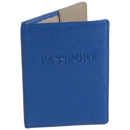 Lodis Leather Passport Cover (For Women) in Blue - Closeouts