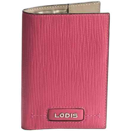 Lodis Leather Passport Cover (For Women) in Fuchsia - Closeouts