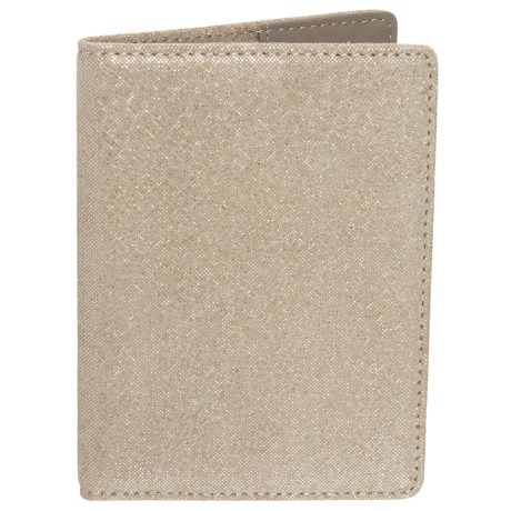 Lodis Leather Passport Cover (For Women) in Gold
