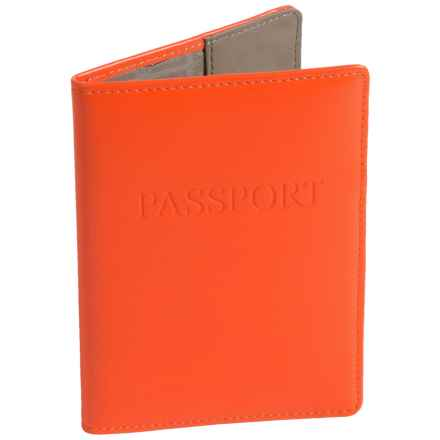 Lodis Leather Passport Cover (For Women) in Orange - Closeouts