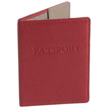 Lodis Leather Passport Cover (For Women) in Red - Closeouts