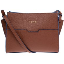 Lodis May Crossbody Bag - Leather (For Women) in British Tan/Cobalt - Closeouts